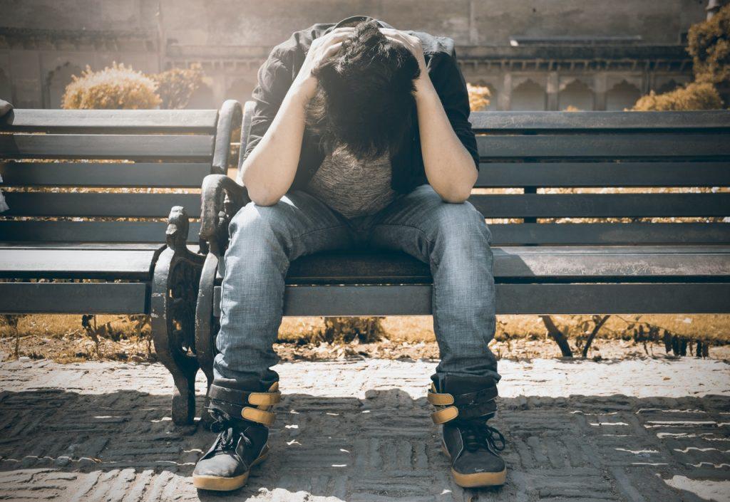 teen under stress