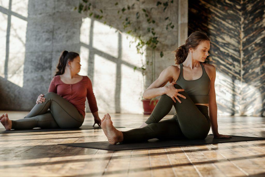 stretching post yoga